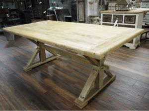 Oak Farmhouse Table And Two Benches - benches