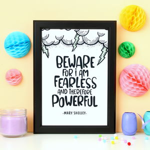 Mary Shelley Quote Print