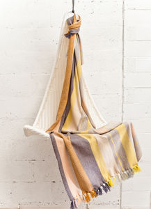 Isabelline Handwoven Throw - throws, blankets & fabric