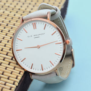 Personalised Leather Watch - personalised jewellery