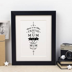 The Best Mum Mothers Day Print