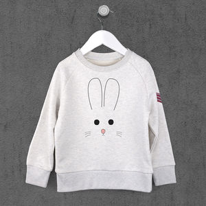 Kids Bunny Face Sweatshirt - easter outfits