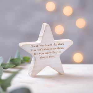Good Friends Wooden Star Keepsake