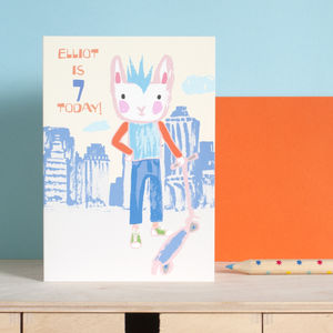 Boys Personalised Age Birthday Card - what's new