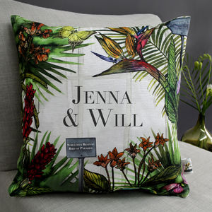 Personalised Tropical Botanical Cushion - new in home