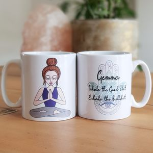 Personalised Yoga Girl Mug