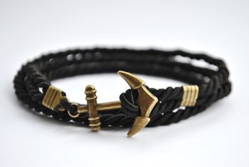 Black Anchor Bracelets