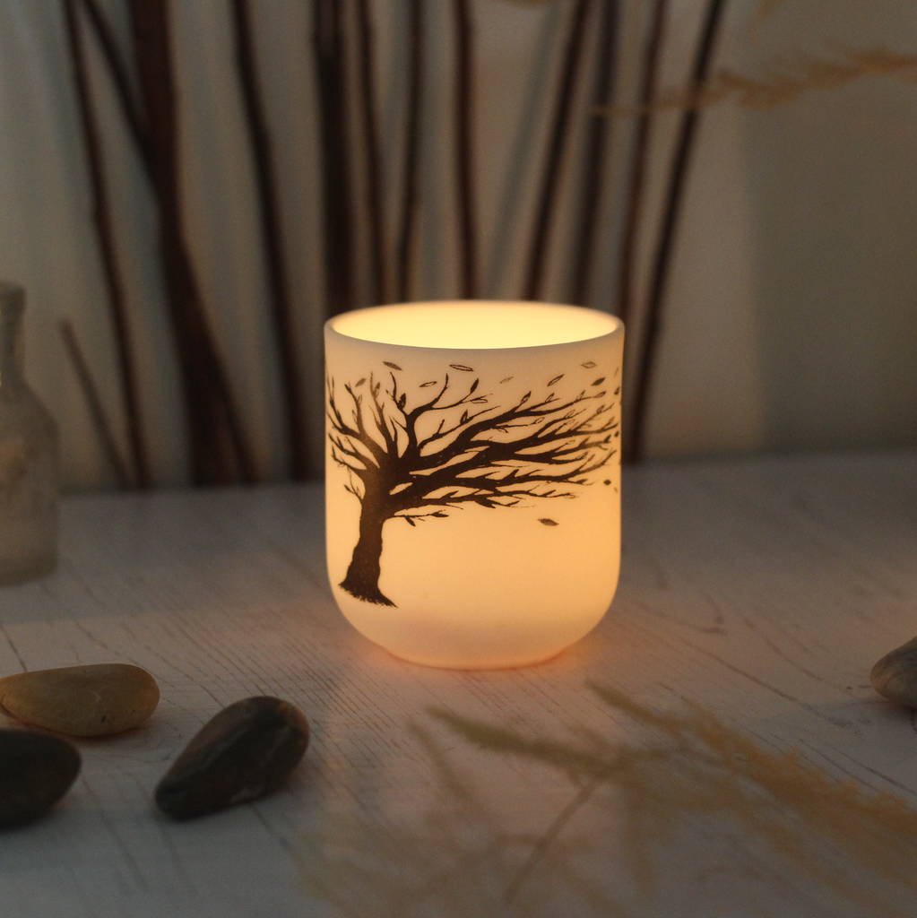 Blowing Tree Porcelain Ceramic Candle Holder By Jack