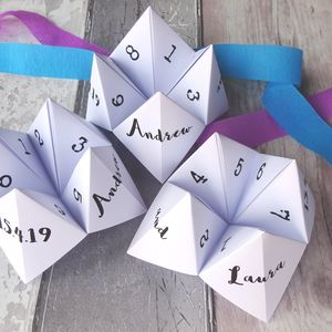 Personalised Wedding Game Fortune Tellers - wedding favours