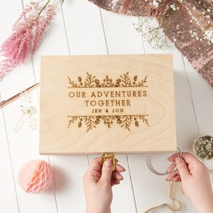 Personalised Botanical Memory Box - best wedding gifts