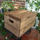 Vintage Style Crate with Lid