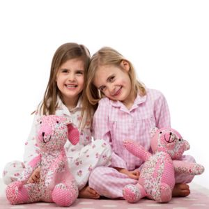 Floral Pyjamas And Soft Toy Gift Set - summer sale