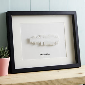 3D Favourite Song Framed Sound Wave - music-lover