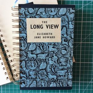 'The Long View' Upcycled Notebook