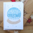 Sale! Merry Christmas Snowglobe Card
