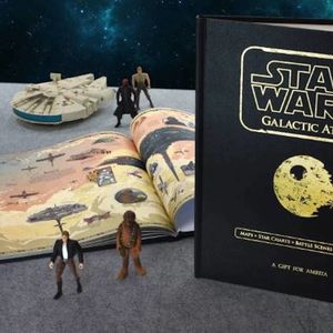 Luxury Personalised Star Wars Galactic Atlas Book - new in home