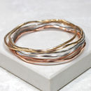 Mixed Metal Stacking Bangles