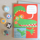 Happy Birthday Crocodile Card