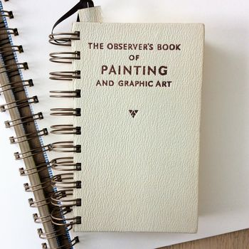 'Observers Painting' Upcycled Notebook
