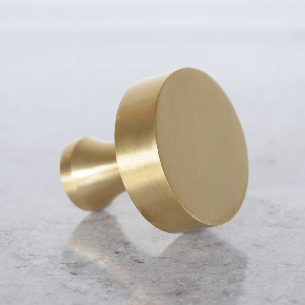 Modern Brass Gold Cupboard Door Knobs By Pushka Home