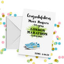 Personalised Running Congratulations Achievement Card