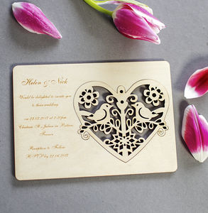 Wedding Invitation Card With Ornament Gift
