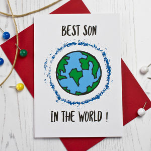 Best Son In The World Card