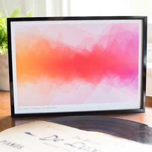 Favourite Song Colour Wave Print - gifts for her
