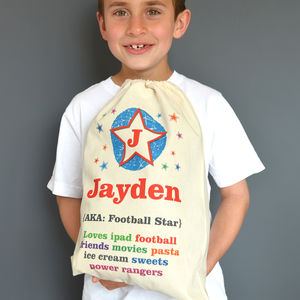 Personalised Child's Drawstring Bag - storage