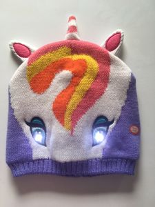Bright Eyes Animal Hats With LED Lights Una Unicorn - children's hats