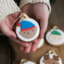 Fun Christmas Bauble Biscuits