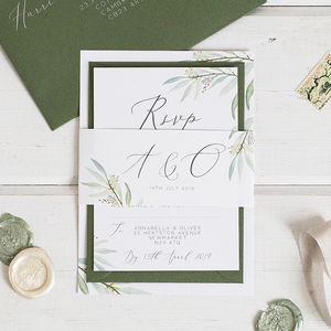 Botanical Wedding Stationery Sample Pack