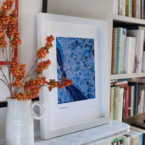 Personalised Abstract Map Print - gifts for him