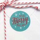 'Hello Merry Mail Day' Christmas Mail Stickers