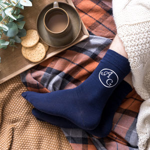 Personalised Ankle Monogram Men's Socks