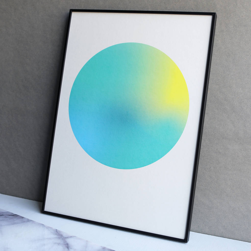 Limited Edition Turquoise Gradient Dot Print