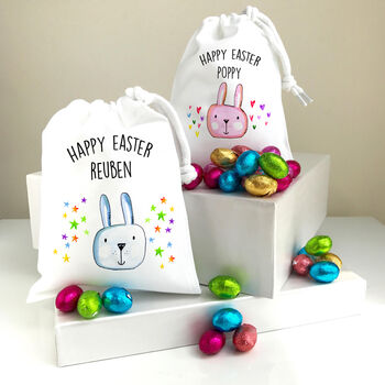 Personalised Gift Bag With Easter Treats
