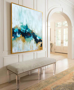 Into The Unknown Large Contemporary Abstract Painting - canvas prints & art