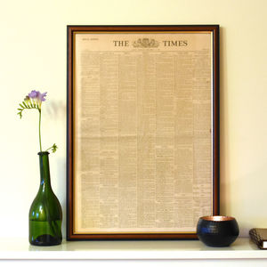 Framed Original Newspaper - literature