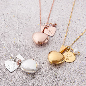 Heart Locket With Birthstone - bridesmaid gifts