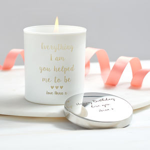 'Everything I Am' Personalised Glow Through Candle - mother's day gifts