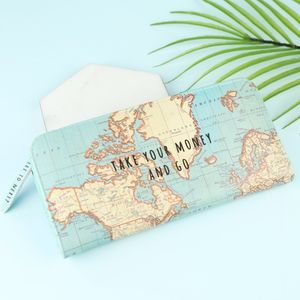 World Map Print Wallet - more