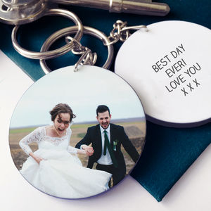 Personalised Wedding Photo Message Keyring - men's accessories
