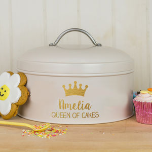 Personalised Queen Cake Tin - gifts for bakers