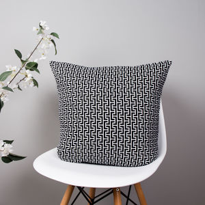 Chain Print Cushion - winter sale