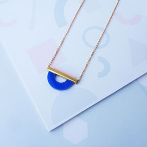 Drop Curve Necklace In Two Colourways - necklaces & pendants