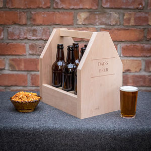 Six Bottle Personalised Beer Caddy - view all new