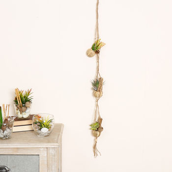 Artificial Potted Succulent Hanging Decoration