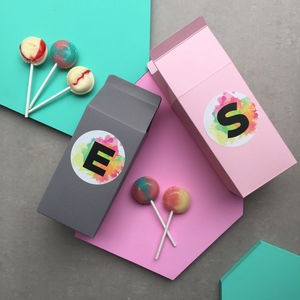 Watercolour Carton Box With Lollies - token gifts