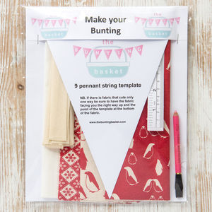 Scandi Penguin Make Your Own Bunting Kit - view all decorations